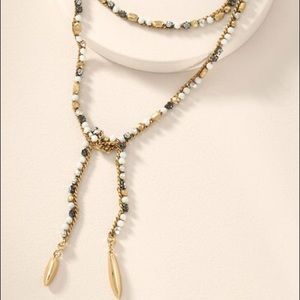 STELLA & DOT Gold Zoe Lariat Necklace